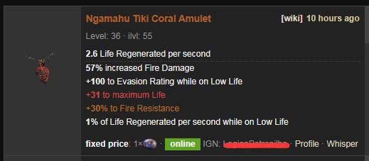 Ngamahu Tiki Build Guide & Price - PoE Coral Amulet
