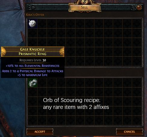 Orb of Scouring Recipe