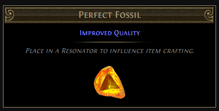 PoE Perfect Fossil Crafting Quality & Drop Location, on Unique