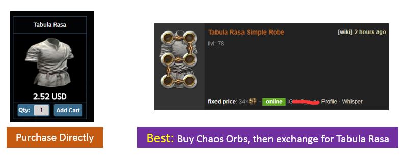 Tabula Rasa Price
