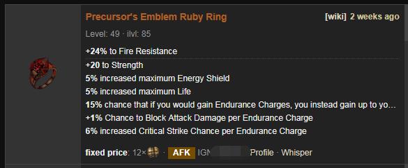 Precursor's Emblem Price