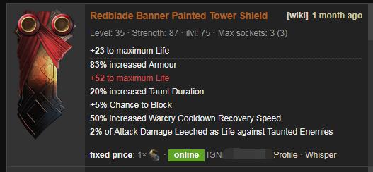 Redblade Banner Price