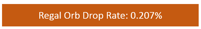 Regal Orb Drop Rate