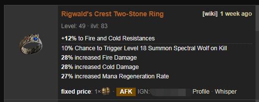 Rigwald's Crest Price