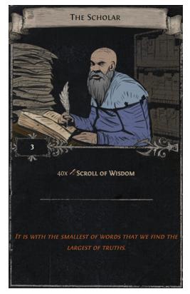 Scroll of Wisdom Divination Card