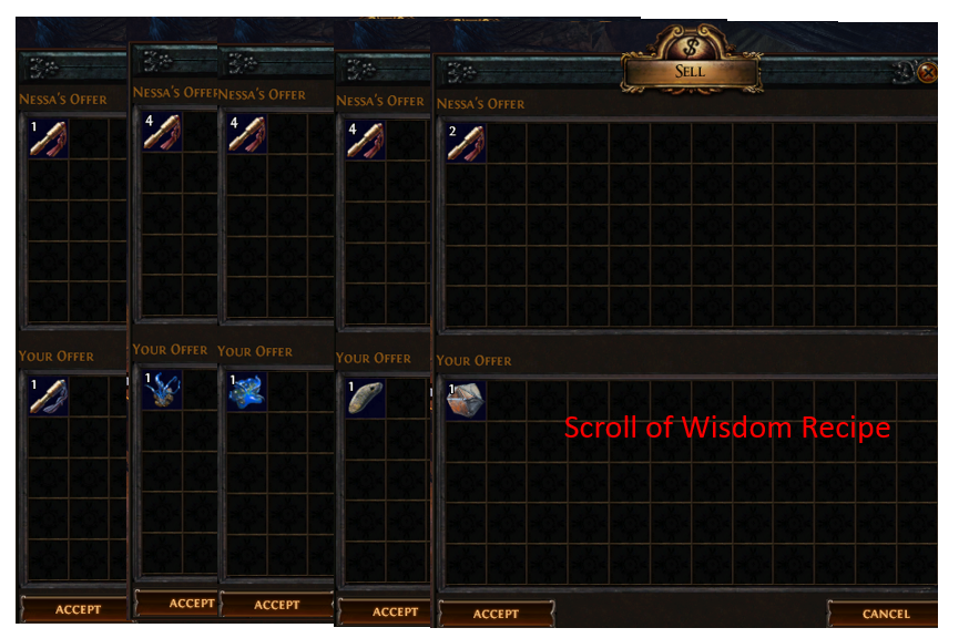 scroll of wisdom recipe