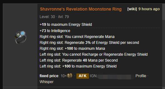 Shavronne's Revelation Price