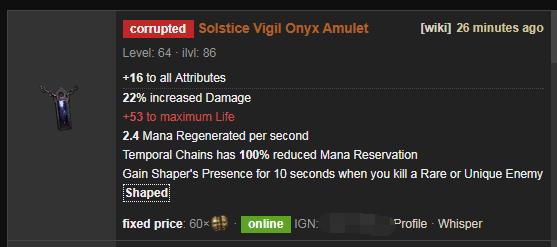 Solstice Vigil Price