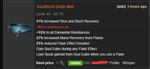 Soulthirst Price