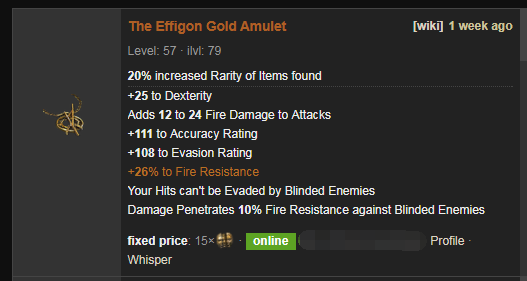 The Effigon Price