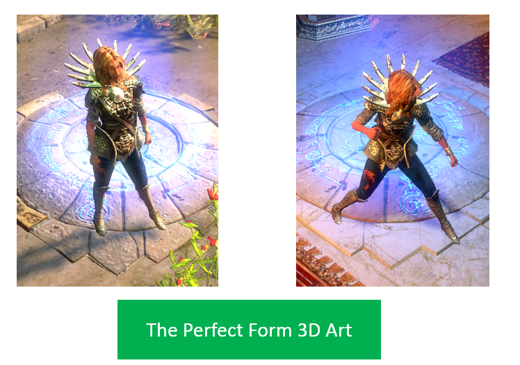 The Perfect Form 3D Art