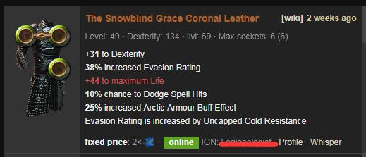 The Snowblind Grace Price