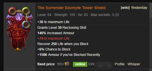 The Surrender Price