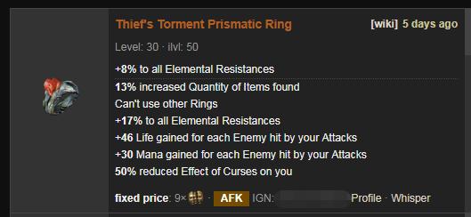Thief's Torment Price