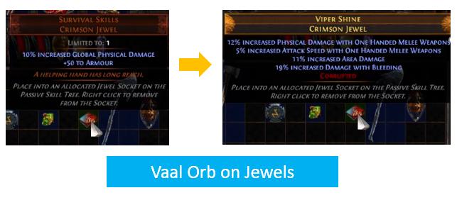 Vaal Orb on Jewels