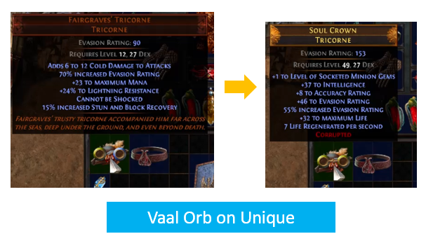 Vaal Orb on Unique Example