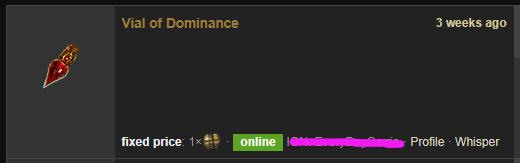 Vial of Dominance Price