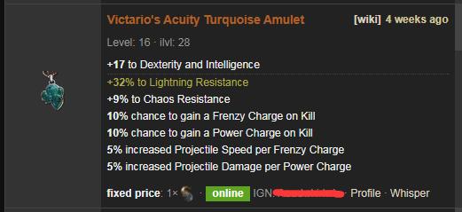 Victario's Acuity Price