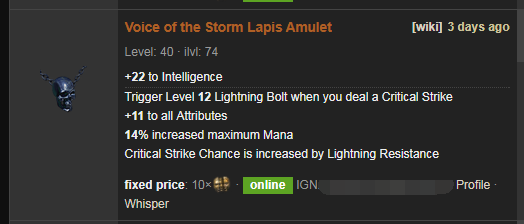 Voice of the Storm Price