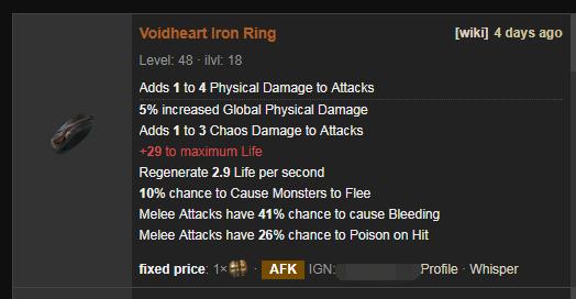 Voidheart Price