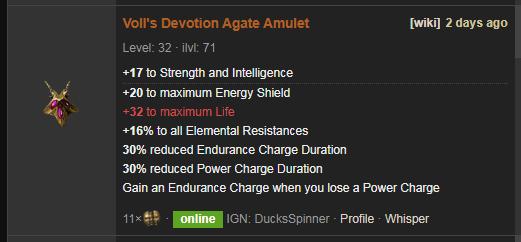 Voll's Devotion Price