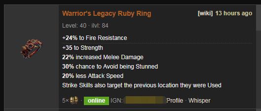 Warrior's Legacy Price