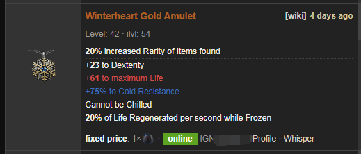 Winterheart Price