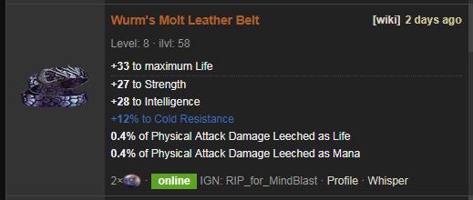 Wurm's Molt Price