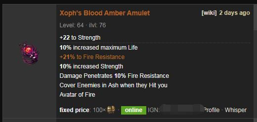Xoph's Blood Price