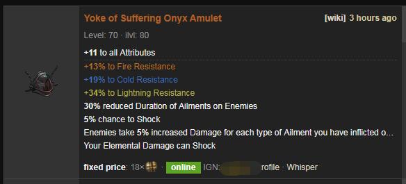 Yoke of Suffering Price