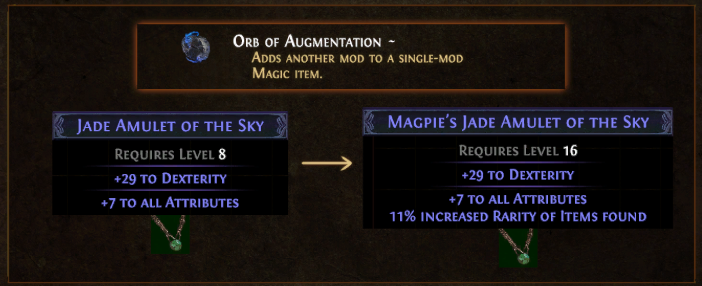 PoE Orb of Augmentation Value, VS Orb of Alteration, Farming & Recipe