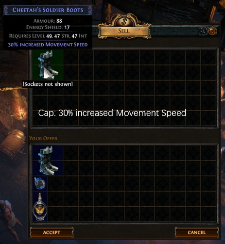 30% increased Movement Speed