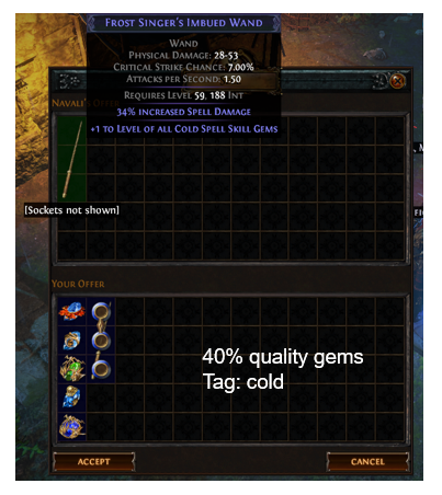 Level of all Cold Spell Skill Gems