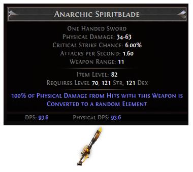Anarchic Spiritblade