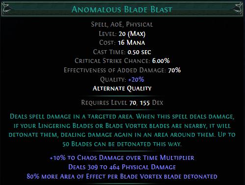 Anomalous Blade Blast PoE