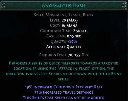 Anomalous Dash PoE