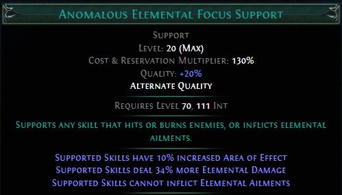 Anomalous Elemental Focus Support PoE