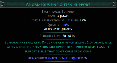 Anomalous Enlighten Support Poe Buy cheap poe currency instant delivery using a 5% off coupon: poe currency