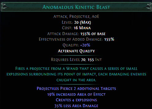Anomalous Kinetic Blast PoE