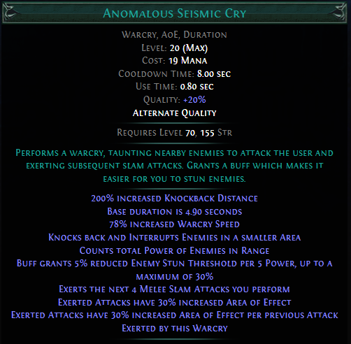 Anomalous Seismic Cry PoE