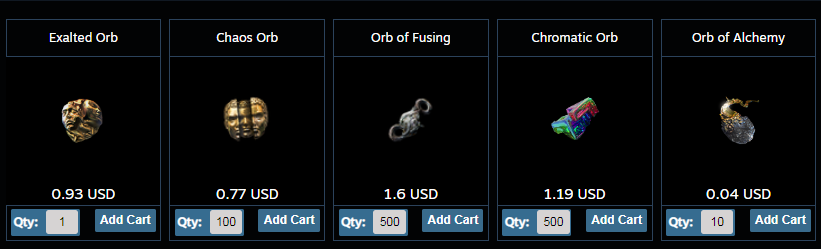 Buy PoE currency at the cheapest prices