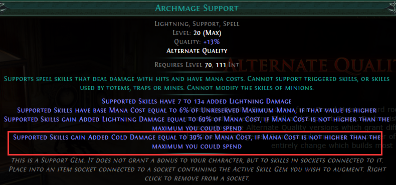 Archmage Support alternate quality