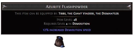 Azurite Flashpowder