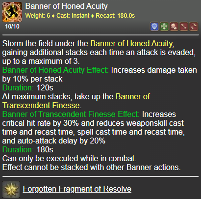 Banner of Honed Acuity FFXIV