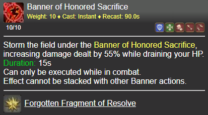 Banner of Honored Sacrifice FFXIV