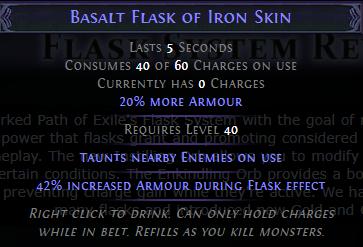 Basalt Flask PoE