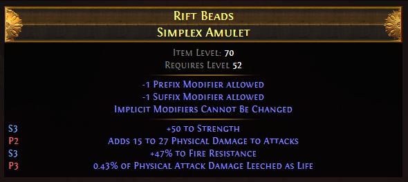 Beads Simplex Amulet