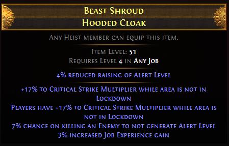 Beast Shroud Hooded Cloak