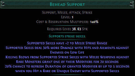 Behead Support PoE
