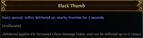 Black Thumb PoE